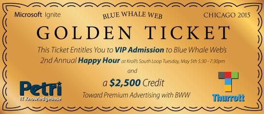 BWW Golden Ticket - Monday Tuesday